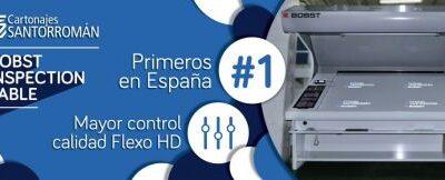 Cartonajes Santorromán instala la primera Mesa de Inspección Digital BOBST en España