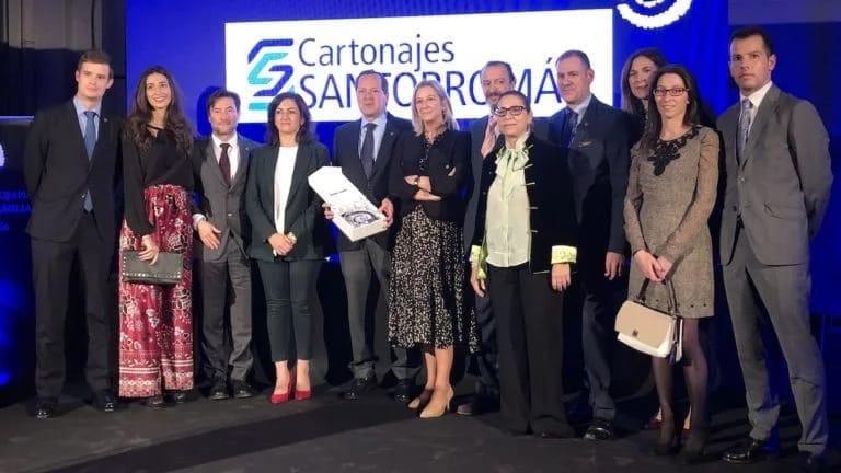 Cartonajes Santorromán recibe el premio a la mejor empresa familiar