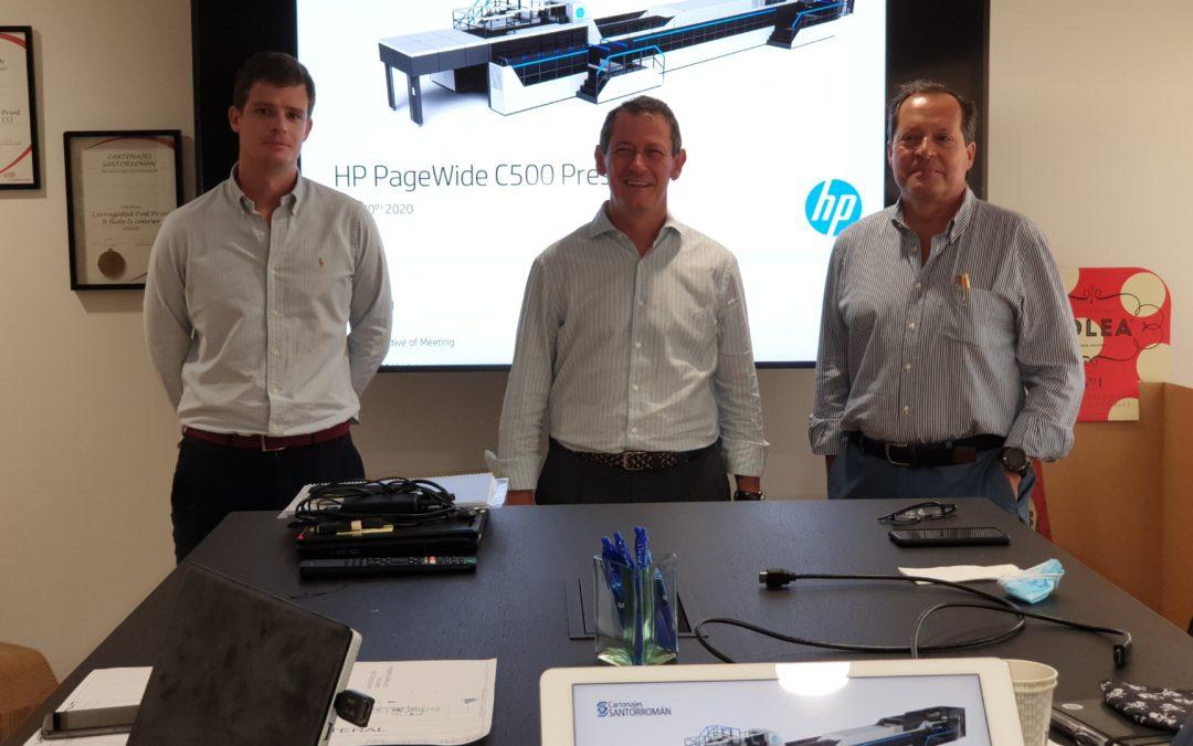 Cartonajes Santorromán elige la prensa digital industrial HP PageWide C500 para suministrar en España embalajes de cartón ondulado sostenibles y seguros para los alimentos